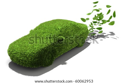 Alternative power concept, green emissions - stock photo