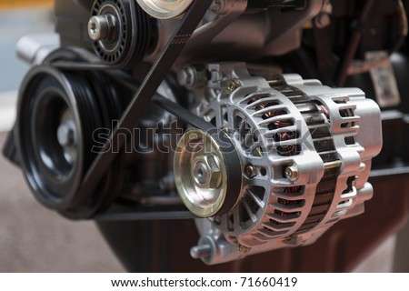 alternator power supply for the electrical circuits of automotive - stock photo