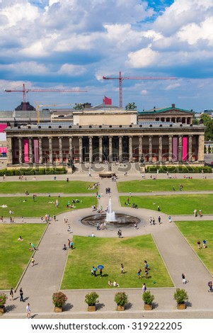 Altes Museum. German Old Museum on Museum Island, Berlin, Germany in a summer day - stock photo