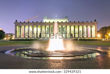 Altes museum with fountain, Berlin - stock photo