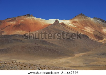 Altiplano high plateau at Andes Mountains, Bolivia - stock photo