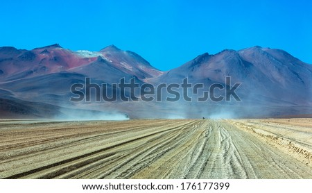 Altiplano high plateau, Bolivia - stock photo