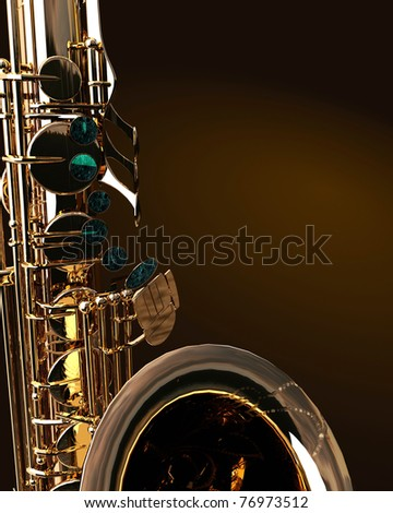 Alto sax against dark background - stock photo