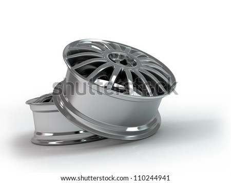 Aluminium Alloy rims, Car rims. Custom wheels for  car. - stock photo