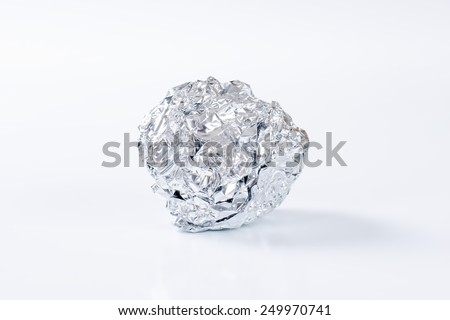 Aluminium ball on white background - stock photo