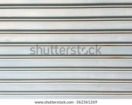 Aluminium door - stock photo