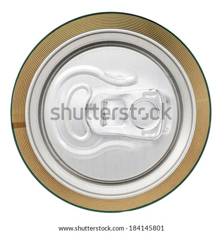 Aluminium drinks can from above