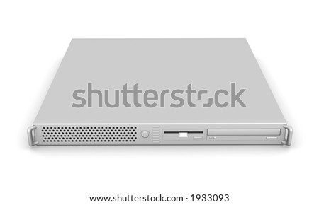Aluminium 19inch Server - stock photo