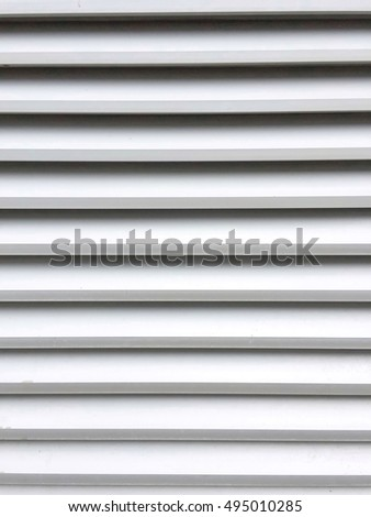 Aluminium Louver for ventilation,Louver pattern for texture or background.