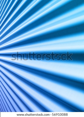 Aluminium metal profile of the wall - stock photo