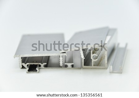 Aluminium profile - stock photo