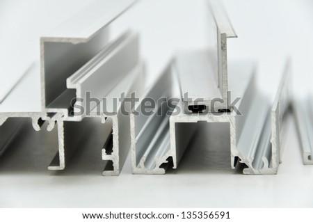 Aluminium profile - stock photo