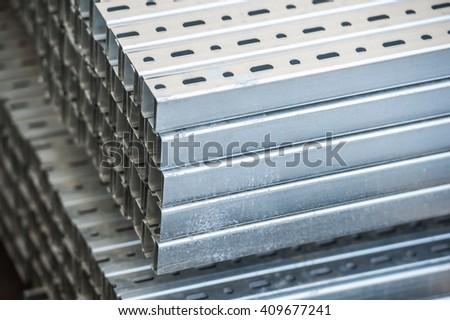 Aluminium Profiles - stock photo