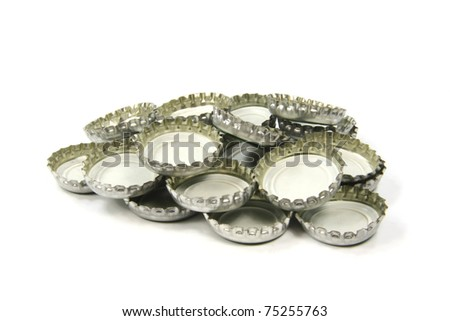 Aluminium tin bottle tops recycling