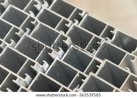 aluminuim cutting surface in constuction area