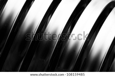 Aluminum abstract silver stripe pattern background - stock photo