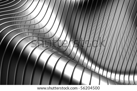 Aluminum abstract silver stripe pattern background 3d illustration - stock photo