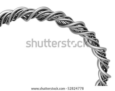 Aluminum abstract string artwork background 3d illustration - stock photo