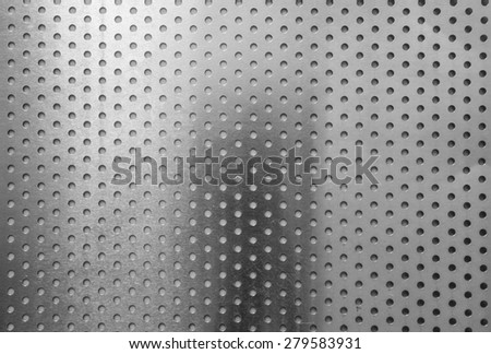 Aluminum alloy texture with circle slot pattern - stock photo