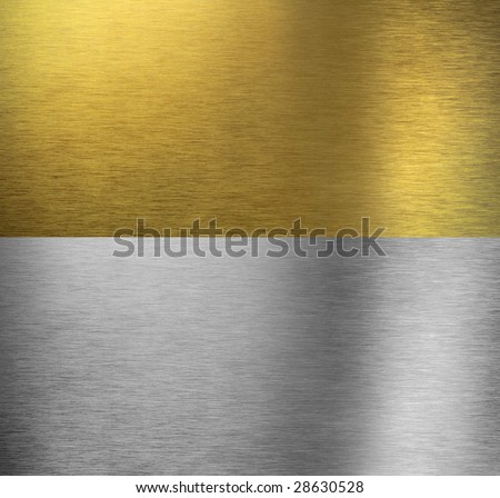 Aluminum and brass  stitched textures