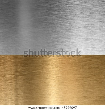 Aluminum and bronze stitched brushed textures - stock photo