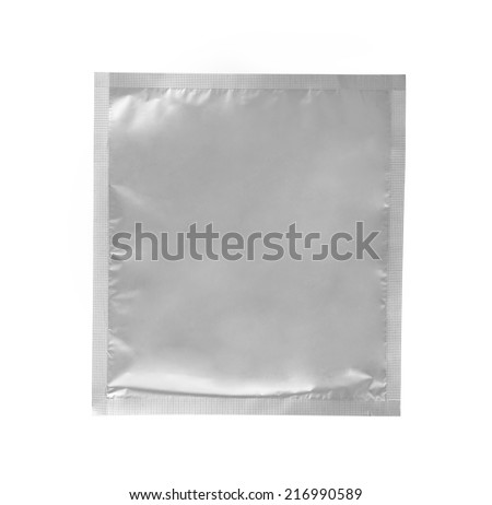 Aluminum bag on white background - stock photo