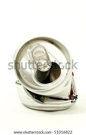 Aluminum beer Bank - stock photo