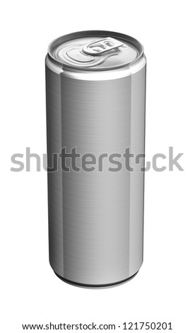 aluminum beer can - stock photo