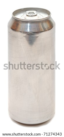 Aluminum beer can isolated over white background - stock photo