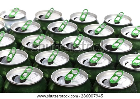 Aluminum beer cans - stock photo