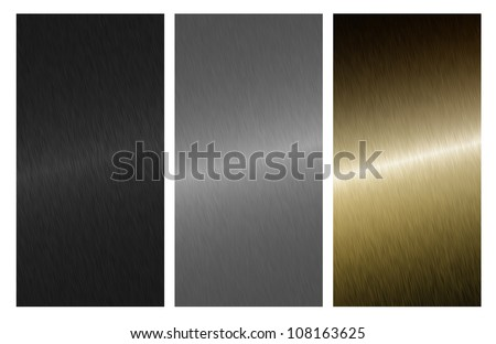 Aluminum, bronze silver and black - stock photo