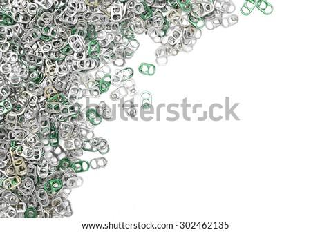 Aluminum can cap isolated on white background - stock photo
