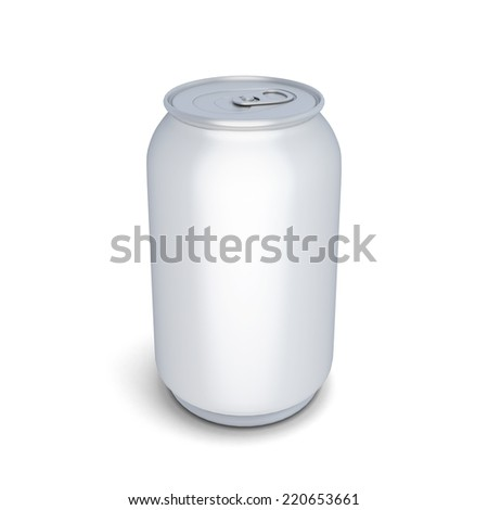 Aluminum can for beer or soda isolated on white background. template empty aluminium can for design.