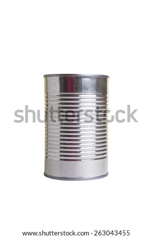Aluminum can isolated - stock photo