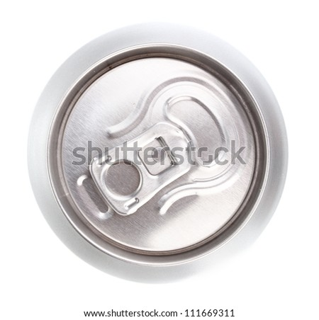 aluminum can isolated on white - stock photo