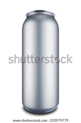 Aluminum can isolated on white baclground. Template can for design. 3d render image. - stock photo