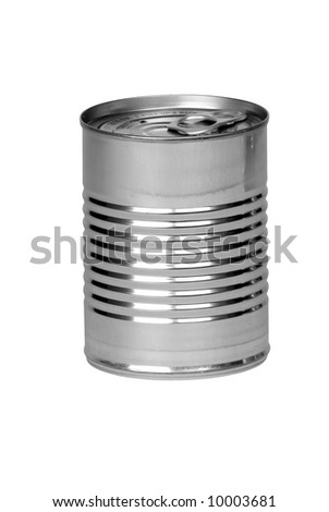 Aluminum can isolated over a white background