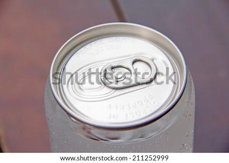 aluminum can of soda - stock photo
