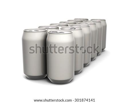 Aluminum cans - stock photo