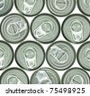 aluminum cans and ring pull - stock photo