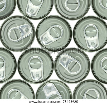 aluminum cans and ring pull