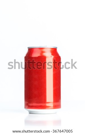 Aluminum cans isolated