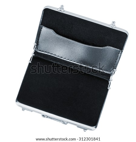 Aluminum case small isolated on a white background  - stock photo