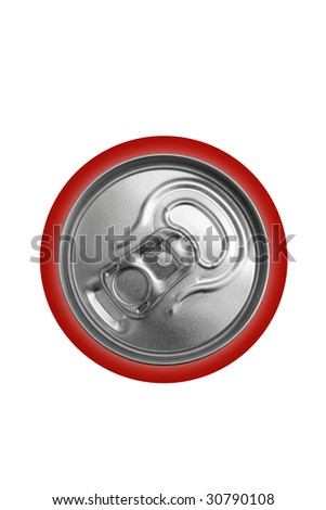 Aluminum closed can on a white background