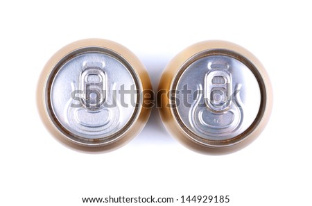 aluminum cola can, view from the top - stock photo