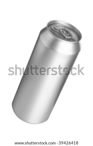Aluminum drink can isolated over white background - stock photo