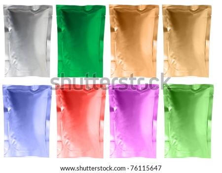 aluminum foil bag - stock photo