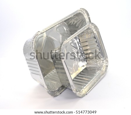 Aluminum food containers of five hundred and one milliliters