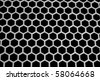 Aluminum honeycomb lattice in the form. Close-up. On a black background. - stock vector