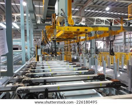 Aluminum lifting - stock photo
